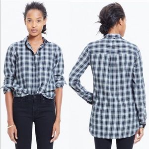 Madewell XS Slim Ex Boyfriend Plaid Shirt Flannel